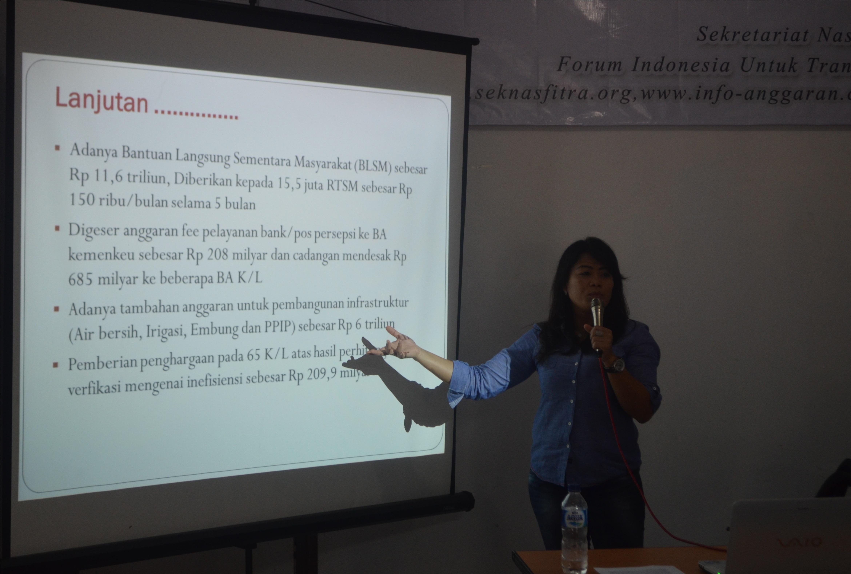 FITRA : Presiden Baru  program RPJMN Dalam Rangka Merumuskan APBN