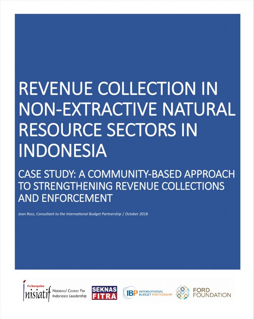 Case Study Indonesia Community Based Approach to Strengthening Revenue Collections and Enforcement IBP 2018